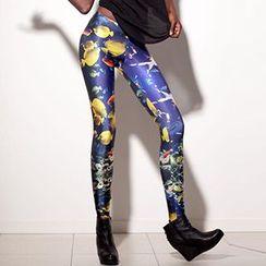 Omifa - Fish-Print Leggings