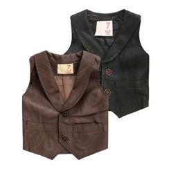 lalalove - Kids Faux Leather Vest