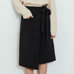 Heynew - Wrap Front Midi Skirt