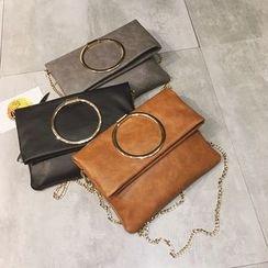 Rosanna Bags - Metal Ring Chain Strap Shoulder Bag