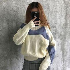 Bodacious! - Turtleneck Color-Block Sweater