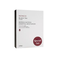 A'PIEU - Nonco Black Tea for Men Special Set: Water 130ml + Moisturizer 130ml + Water 30ml + Moisturizer 30ml