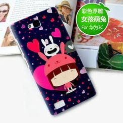 Kindtoy - Cartoon Print Huawei Honor 3C Case