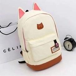 ALIN - Ear-Accent Canvas Backpack