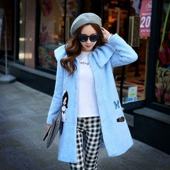 Dabuwawa - Applique Fleece Coat