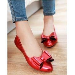 Cinnabelle - 蝴蝶結平跟鞋
