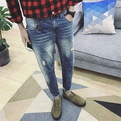 JORZ - Distressed Washed Jeans
