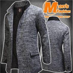 WIZIKOREA - Mandarin-Collar Patterned Jacket