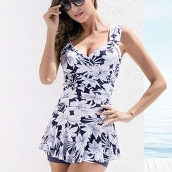 Hoshi - Floral Ruffle Swimsuit