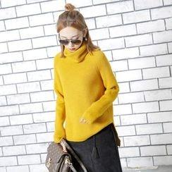 Sonne - 高领针织厚毛衣
