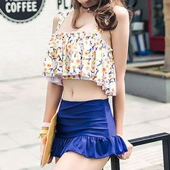 Sweet Splash - Set: Print Swim Top + Swim Skirt