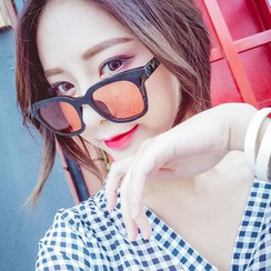 FaceFrame - Colored Lens Square Sunglasses