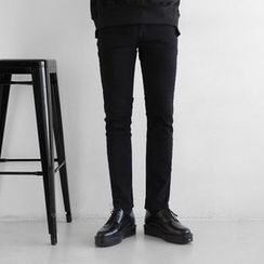 Seoul Homme - Flat-Front Straight-Cut Pants
