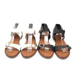 midnightCOCO - Faux-Leather Buckled-Strap Sandals