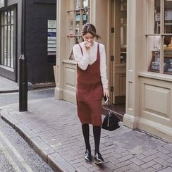mimi&didi - Dual-Pocket Wool Blend Knit Jumper Dress