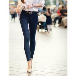 GUMZZI - Plain Skinny Pants