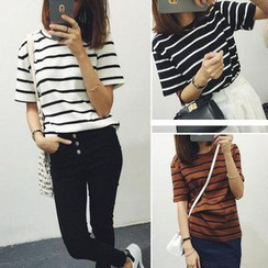 MATO - Striped Short-Sleeve T-Shirt