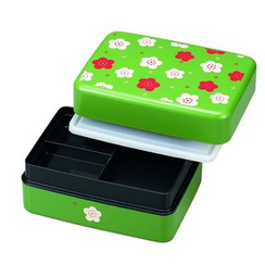 Hakoya - Hakoya Rectangular Picnic Lunch Box Green Ume