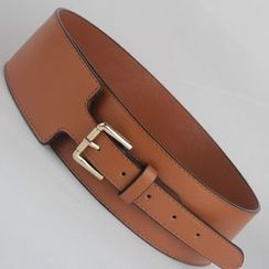 Goldenrod - Wide Faux Leather Belt