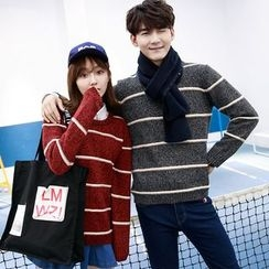 Je T'aime - Couple Matching Stripe Knit Top