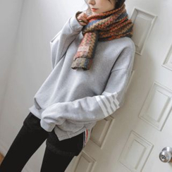 JUSTONE - Contrast-Trim Dip-Back Sweatshirt