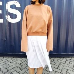 HELLO KANO - Long-Sleeve Cropped Top