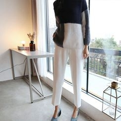 Hello sweety - Band-Waist Tapered Pants