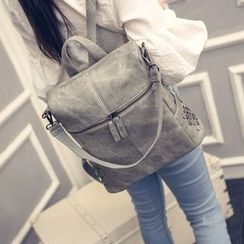 Petal Princess - Faux-Leather Studded Backpack
