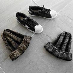 NIPONJJUYA - Glitter Rib-Knit Beanie
