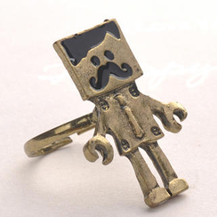 Fit-to-Kill - Vintage Robot Ring - Copper