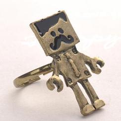 Fit-to-Kill - 复古机器人戒指 - 古铜色