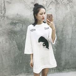 GAGAI - Printed T-Shirt Dress