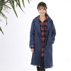 11.STREET - Denim Pocket Long Coat