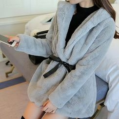 Colorful Shop - Loose-Fit Hooded Coat