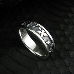 Sterlingworth - Engraved Sterling Silver Ring