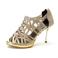 MODELSIS - Cut-Out Glittered Sandals