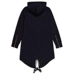 Aozora - 抽繩連帽長款夾克