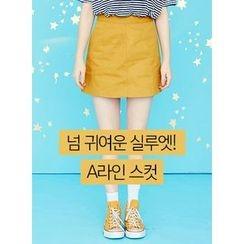 icecream12 - Seam-Trim A-Line Mini Skirt