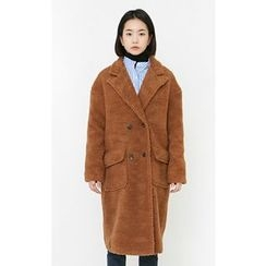 Someday, if - Double-Breasted Faux-Shearling Coat