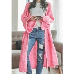 REDOPIN - Open-Front Long Cardigan