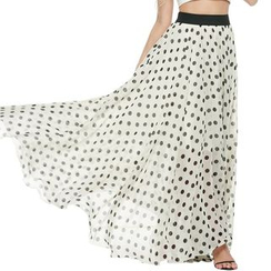 LIVA GIRL - Dotted Maxi Skirt