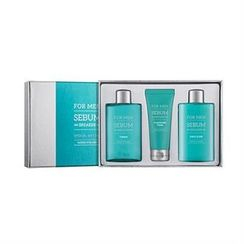 Missha 謎尚 - For Men Sebum Breaker Set: Toner 160ml + Emulsion 160ml + Cleansing Foam 60ml