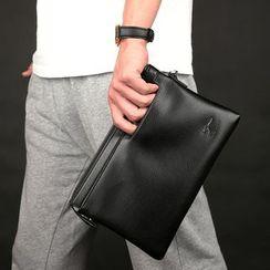 SUNMAN - Plain Faux-Leather Clutch