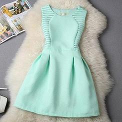 Fashion Street - Sleeveless Tie Waist Dress