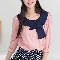 59 Seconds - Striped Long-Sleeve Top