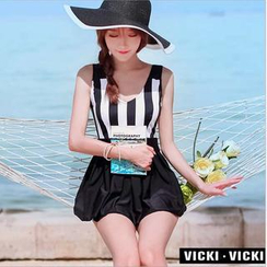 Vicki Vicki - Striped Swimdress