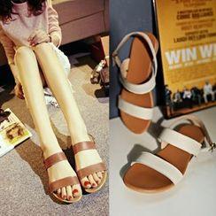 Kireina - Genuine Leather Flat Sandals