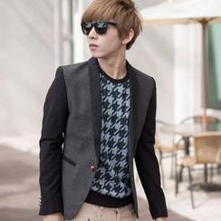 SeventyAge - Contrast Slim-Fit Woolen Suit
