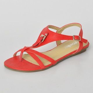 yeswalker - Buckle Accent T-Strap Sandals