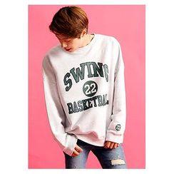 HOTBOOM - 'BASKETBALL' Printed Sweatshirt